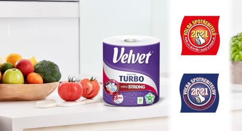 Ręcznik Velvet Turbo został nagrodzony przez konsumentów na rynkach czeskim i słowackim!